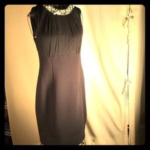 Taylor Black Cocktail Dress with Pearls